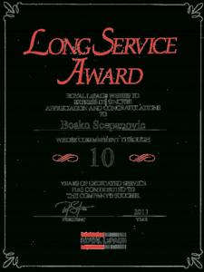 Download Long Service Award Certificate Template Free Forte inside Long Service Award Certificate Templates