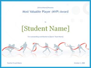 Download Mvp Award Certificate – Free Certificate Templates in New Mvp Award Certificate Templates Free Download