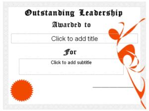 Download Outstanding Leadership Award Certificate – Free with Best Outstanding Student Leadership Certificate Template Free