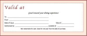 Download Restaurant Gift Certificate Templates with New Restaurant Gift Certificate Template