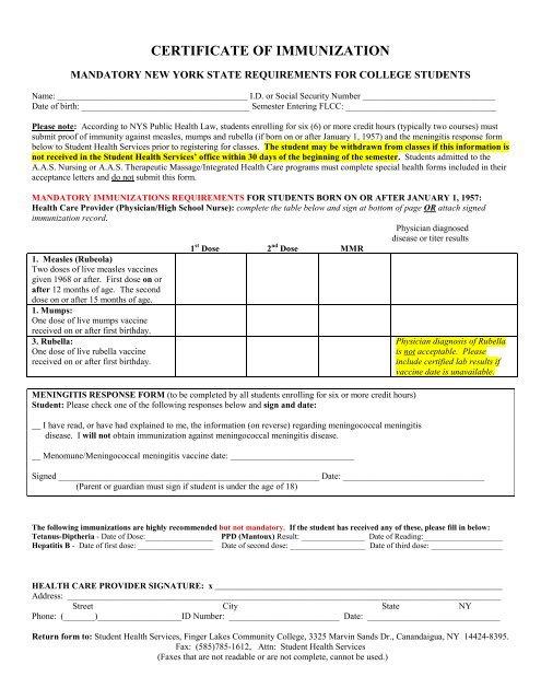 Download The Certificate Of Immunization / Meningitis inside Best Certificate Of Vaccination Template