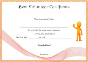 Download Volunteer Certificates The Right Way (19 Free Word throughout Unique Volunteer Certificate Template