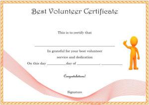 Download Volunteer Certificates The Right Way (19 Free Word with regard to Fresh Volunteer Certificate Templates