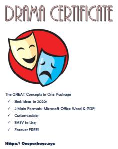 Drama Certificate Template Free In 2020 | Certificate Throughout Best Drama Certificate Template Free 10 Fresh Concepts