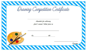 Drawing Award Certificate Template Free 1 | Awards regarding Quality Drawing Competition Certificate Templates