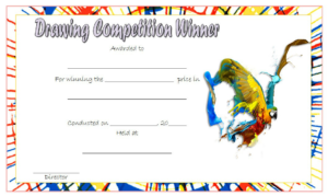 Drawing Competition Winner Certificate Template Free 1 throughout Quality Drawing Competition Certificate Templates