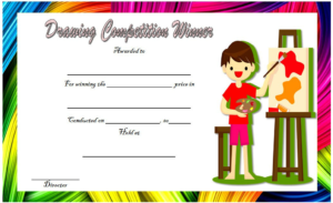 Drawing Competition Winner Certificate Template Free 3 pertaining to Quality Drawing Competition Certificate Templates