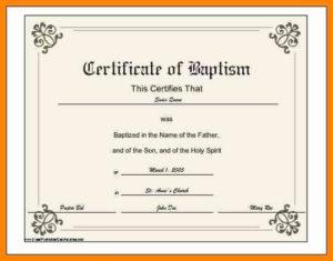 √ 20 Baptism Certificate Template Download in Baptism Certificate Template Download