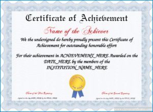 √ Free Printable Certificate Of Achievement Template regarding Fresh Blank Certificate Of Achievement Template