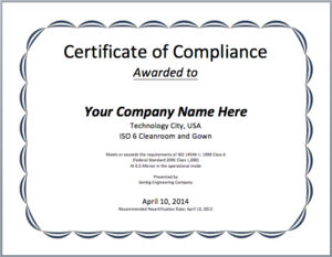 ❤️ Free Certificate Of Compliance Templates❤️ for Fresh Certificate Of Compliance Template