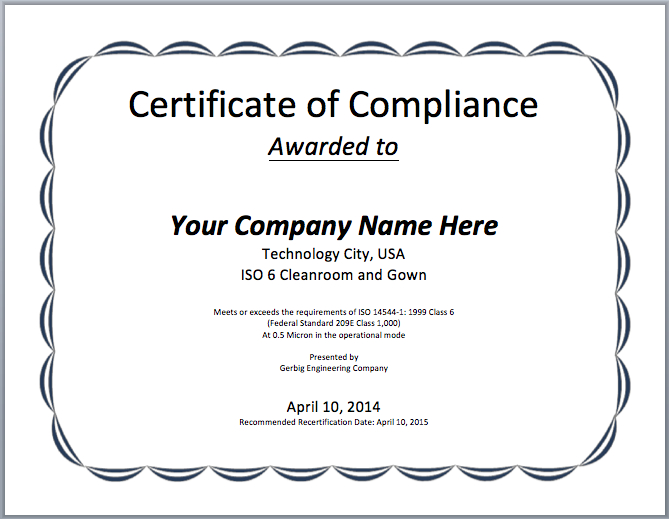 ❤️ Free Certificate Of Compliance Templates❤️ with regard to Fresh Certificate Of Compliance Template