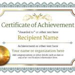 ❤️ Free Sample Certificate Of Achievement Template❤️ With Blank Certificate Of Achievement Template