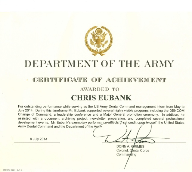 ❤️ Free Sample Certificate Of Achievement Template❤️ within Army Certificate Of Achievement Template