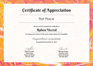 ❤️ Sample Certificate Of Appreciation Form Template❤️ in Certificates Of Appreciation Template
