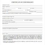❤️10+ Free Certificate Of Conformance Sample Template❤️ Regarding Certificate Of Conformity Template