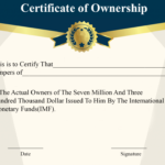 ❤️5+ Free Sample Of Certificate Of Ownership Form Template❤️ Intended For Unique Download Ownership Certificate Templates Editable