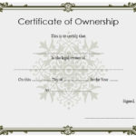 ❤️5+ Free Sample Of Certificate Of Ownership Form Template❤️ With Regard To Ownership Certificate Template