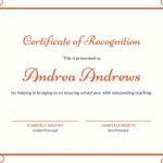 ❤️Free Certificate Of Recognition Template Sample❤️ Intended For Unique Recognition Of Service Certificate Template