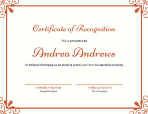 ❤️Free Certificate Of Recognition Template Sample❤️ within Recognition Certificate Editable