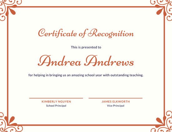 ❤️Free Certificate Of Recognition Template Sample❤️ within Unique Template For Recognition Certificate