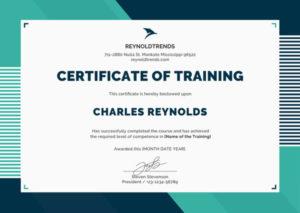 ❤️Free Certificate Of Training Sample Template❤️ in Quality Template For Training Certificate
