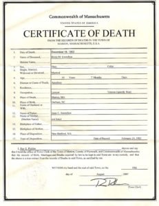 ❤️Free Printable Certificate Of Death Sample Templates❤️ pertaining to Quality Death Certificate Template