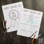 Easy Father'S Day Crafts Kids Can Make | Better Homes & Gardens With Regard To New Certificate For Best Dad 9 Best Template Choices