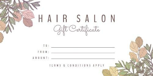 Easy To Edit Hair Salon Gift Certificates. regarding Fresh Free Printable Hair Salon Gift Certificate Template