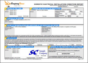 Easycert Electrical Software, Test & Inspection, Electrical for Electrical Installation Test Certificate Template