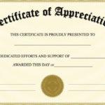 Editable Certificate Of Appreciation Template | Editable regarding Editable Certificate Of Appreciation Templates