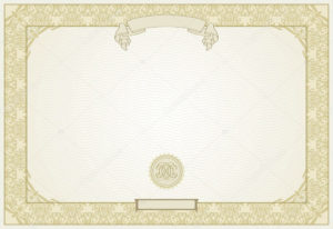Editable Certificate Template With Ornamental Border, In Modern 23465772 within Unique High Resolution Certificate Template