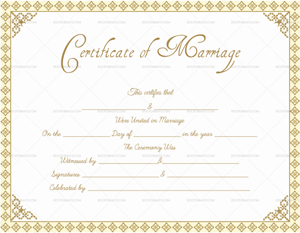 Editable Marriage Certificate Templates (Make Your Own in Unique Marriage Certificate Editable Templates