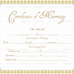 Editable Marriage Certificate Templates (Make Your Own Inside Quality Marriage Certificate Editable Template