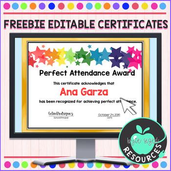 Editable Perfect Attendance Certificate Worksheets regarding Unique Perfect Attendance Certificate Template Editable