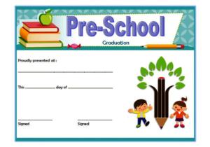 Editable Preschool Graduation Certificate Template Free 3 inside Quality Pre K Diploma Certificate Editable Templates