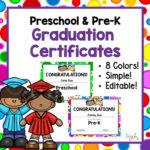 Editable Preschool & Pre K Graduation Certificates! In Unique Editable Pre K Graduation Certificates