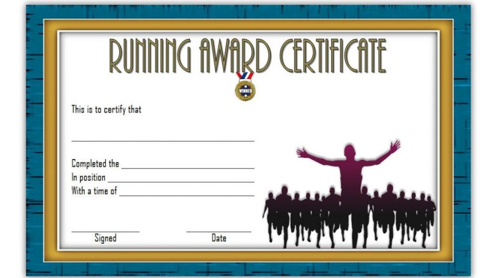 Editable Running Certificate 6 - Best Templates Ideas For with regard to Fresh Editable Running Certificate