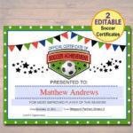 Editable Soccer Award Certificates Instant Download Team For Sportsmanship Certificate Template