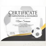 Editable Soccer Football Certificate Template Sport | Etsy intended for Football Certificate Template