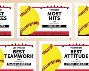 Editable Softball Award Certificates – Instant Download Printable – Red And  Black in Softball Award Certificate Template