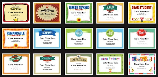 Editable Student Certificates Templates For Classrooms And throughout Best Classroom Certificates Templates