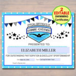 Editable Swim Team Award Certificates Instant Download With Best 9 Worlds Best Mom Certificate Templates Free