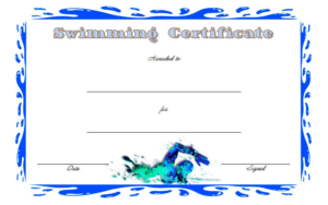 Editable Swimming Certificate Template Free 3 | Certificate within Editable Swimming Certificate Template Free Ideas