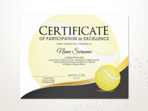 Editable Tennis Certificate Template Sport Certificate Award with regard to Best Editable Tennis Certificates