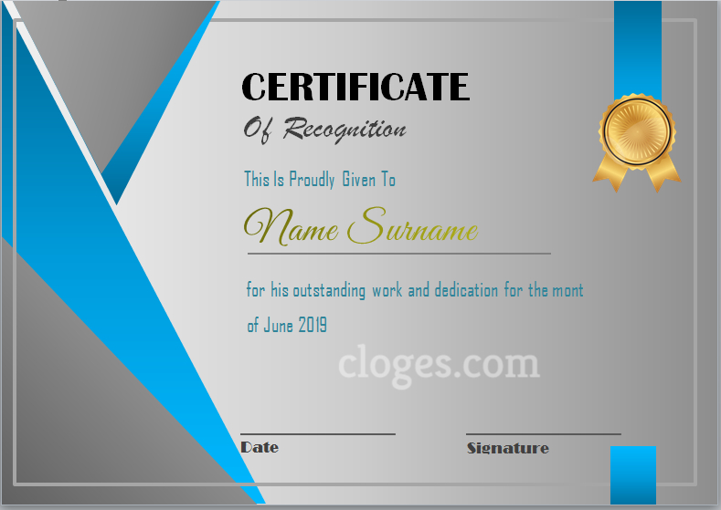 Editable Word Certificate Of Participation Template for Unique Recognition Certificate Editable
