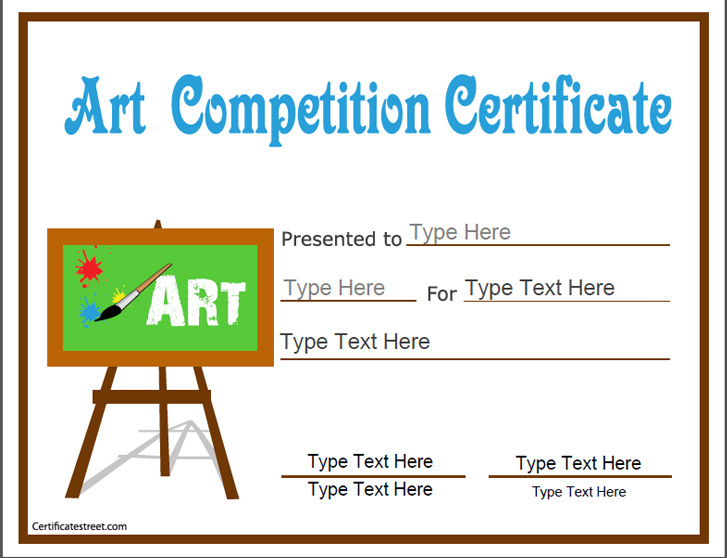 Education Certificates - Art Competition Certificate | Art intended for Drawing Competition Certificate Templates