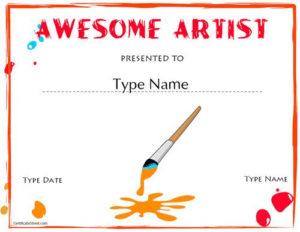 Education Certificates – Artist Award | Art Certificate, Art regarding Fresh Free Art Award Certificate Templates Editable