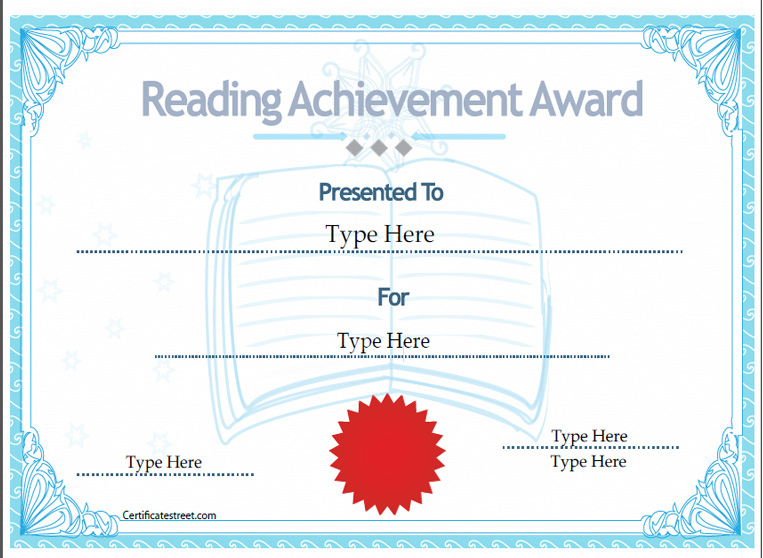Education Certificates - Certificate Of Reading Achievement intended for Quality Reading Achievement Certificate Templates