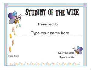 Education Certificates – Student Of The Week pertaining to Fresh Student Of The Week Certificate Templates
