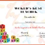 Education Certificates – World'S Best Teacher Certificate Intended For New Best Teacher Certificate